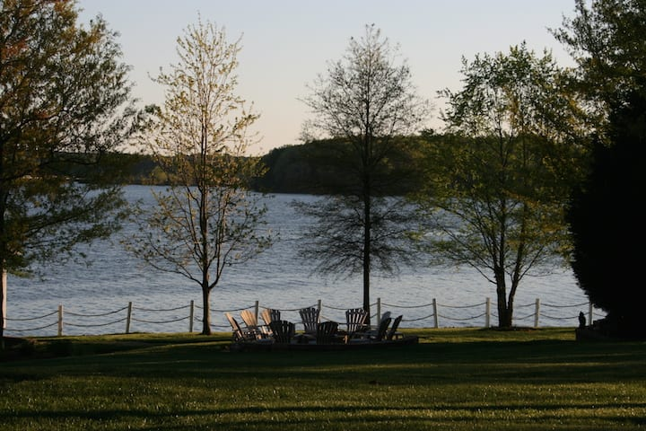 Lake Norman Rentals cozy fire pit